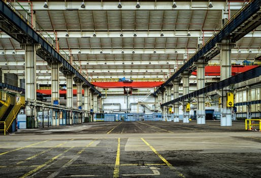 empty warehouse with no pallet trolleys